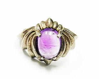 Very Nice Sterling Silver Amethyst Ring