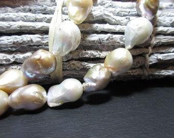 Baroque freshwater pearl strand/multicolor 12-13 mm bargain