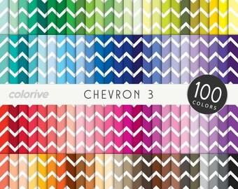 Chevron digital paper 100 rainbow colors thin medium chevron background bright pastel printable scrapbooking paper