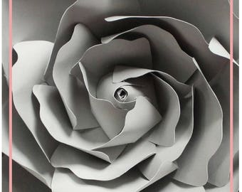 PDF Flower Center Template, Center of the Rose, Paper Flower Template, DIY, Paper Rose Template, Two versions and Instruction Including