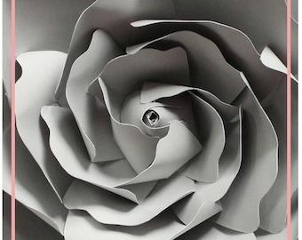 PDF Flower Center Template, Center of the Rose, Paper Flower Template, Paper Rose Template, Base and Instruction Including