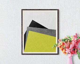 Abstract Print, Geometric Print, Abstract Art, Geometric Art, Minimalist Print, Minimalist Art, Modern Abstract Wall Poster, Printable Art
