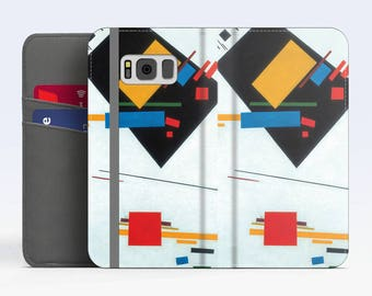 "Kazimir Malevich, ""Suprematism"". Samsung Galaxy S8 Wallet case. Samsung S7 wallet case. Samsung S6 wallet case. iPhone Wallet cases."