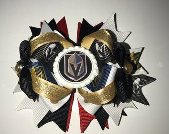 Las Vegas Golden Knights OTT hair bow