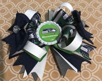 Seattle Seahawks hair bow