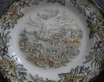 Pair of Heritage Fish Market Toronto - Engraving Plates - Bartlett's scenes Ridgway of Staffordshire England - 2 plates Display Collectables