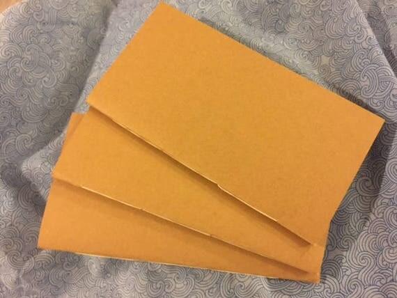 Set of THREE handmade paper refills for traveler's style journal or notebook.
