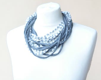 Hand made recycled eco-tape Multiwire necklace