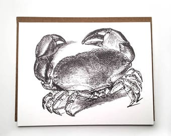 Grand Opening Sale! - Crab Note Cards, Note Card Sets, Nautical Cards, Beach Stationery, Coastal Greeting Cards