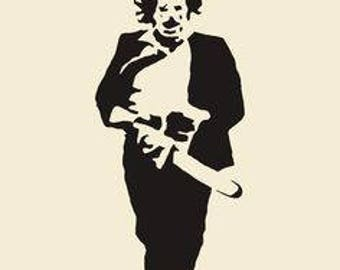 Leatherface Texas Chainsaw Massacre Halloween Horror Vinyl Car Decal Bumper Window Sticker Any Color Multiple Sizes