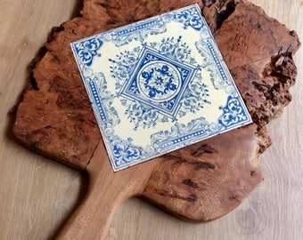 Handmade trivet/pot stand with inlaid tile