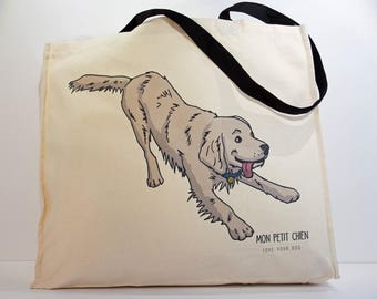 Golden Retriever shopping bag - Tote bag for Dog lovers