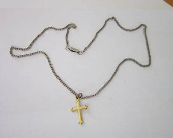 Vintage Christian Cross Necklace