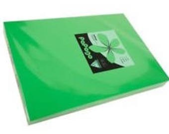 1 sheet of paper A4 80 g/m2 papago by clairefontaine billiard green color
