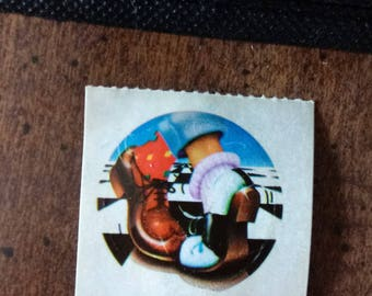 Vintage Lisa Frank sticker, 1980s, dancing, sock-hop, retro 1950s dancing