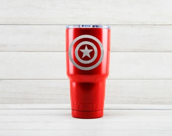 Yeti Tumblers Engraved With Captain America Personalized Yeti Tumblers 20 oz Captain America Yeti Gift For Men Captain