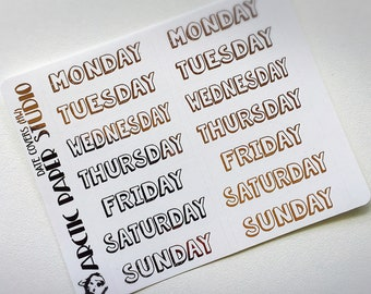 Date Covers (HW) - FOILED Sampler Event Icons Planner Stickers