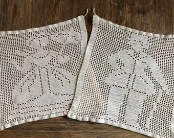 A Pair of crochet squares