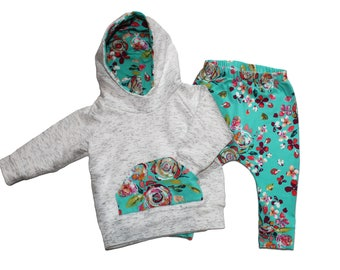 Baby girls outfit / girls floral pants / baby hoodies / baby girls clothing / girls clothing sets / baby girls clothings sets
