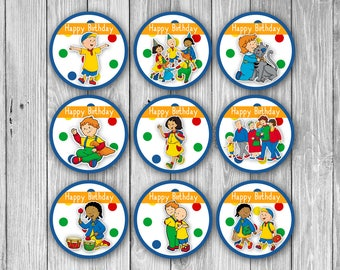 Caillou Cupcake Toppers (Digital)
