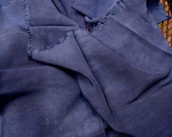 Hand Dyed Rayon Fabric, Colbalt Blue, 100% Cotton, DYI, Fiber Crafts