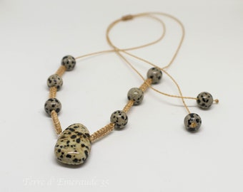 Dalmatian Jasper pendant necklace