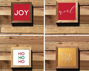 Christmas Square Signs
