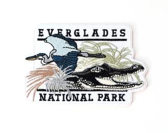 Official Everglades National Park Souvenir Patch Florida Bay Alligator FREE SHIPPING
