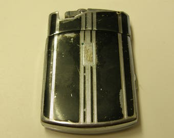 Vintage Ronson Tuxedo Cigarette Case Lighter - Engraved AEG