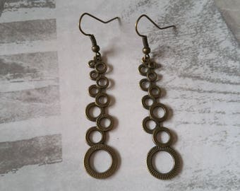 Earrings bronze rings BO 106