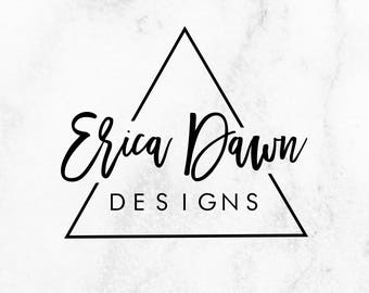 Modern Triangle Logo // Chic Premade Logo // Hipster Logo