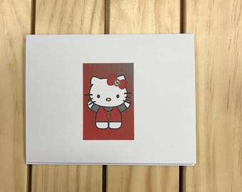 Ohio State Buckeyes Hello Kitty Card