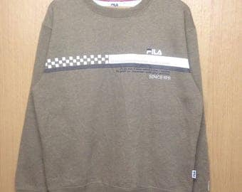 Rare !!! Vintage Fila Sweatshirt Jumper Fila Biella Italia Spellout Fila Crewneck Jacket