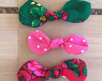 Goralska Bow Hair Clips (set of 3)
