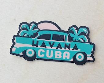Havana Cuba Travel Sticker