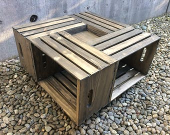 RUSTIC CRATE TABLE // custom // local pick-up // coffee table