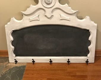 Chalkboard sign with hooks