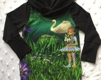 READY to ship, evolutionary tunic 1-3 years old, fairy, baby grow with me