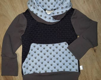 READY to ship, evolutionary sweater with Pocket 3-12 m, padded and wreaths, clothing, boy, grow with me