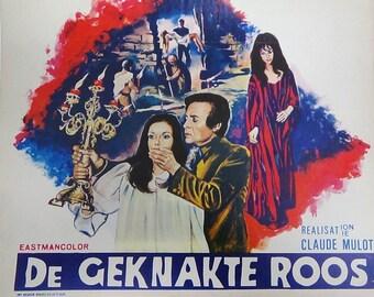 "Spanish Horror Movie Poster ""La Rose Ecorchee"""