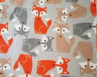 Flannel foxes book sleeve