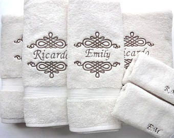 Embroidered Customized/Personalized Hand Towels, Towels & Towel Sets!!