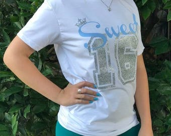 SWEET 16 SHIRT    Birthday t shirt   Sweet sixteen shirt