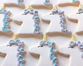 Unicorn Cookies - Sugar Cookies with Royal Icing