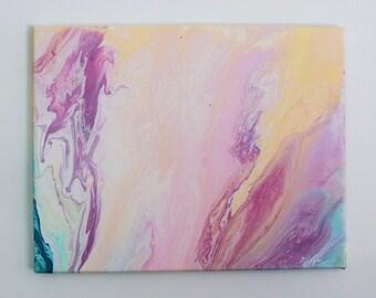 Fruitfly, Neon Abstract Art Fluid Acrylic Painting