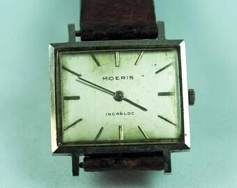 Art Deco Moeris Stainless Steel Watch