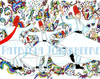 """Whirling Dervishes path of spiritual elevation, """"Kashmir Style"""""""