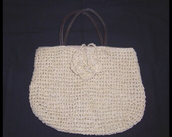 Handbag: Nieman Marcus Knit Purse Medium Single Compartment Shopping Bag Vintage But never used