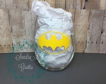 Batman Stemless Wine Glass