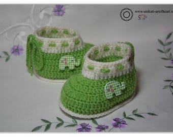 Crochet Baby Shoes / Unisex Baby Shoes / Gift for Baby / Crochet Baby Sneakers / Newborn Baby Sneakers / Newborn Baby Gift / Baby Slippers